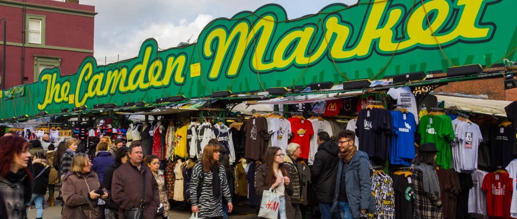 Camden Market Ist Ein Beliebter Markt In London